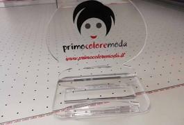 porta biglietti da visita in plexiglass personalizzati con logo