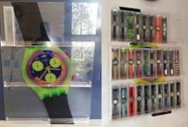 struttura in plexglass porta swatch con stampa digitale